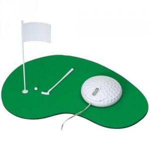 Tapis de souris golf et souris balle