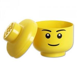 Boite de rangement tête Lego