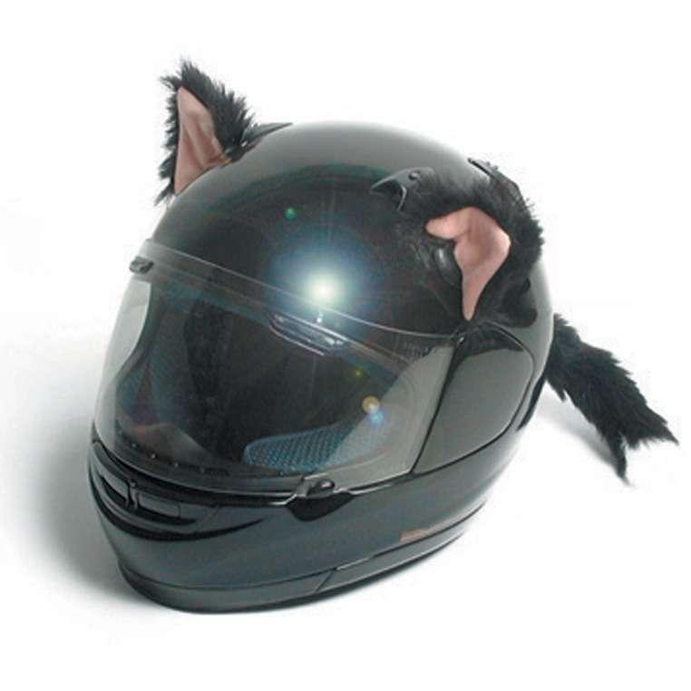 oreilles de chat pour casque moto ski snowboard gadget