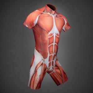 Combinaison cycliste imprimé muscles
