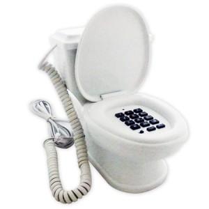 Téléphone filaire toilettes délirant