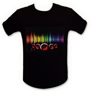 Tee shirt LED égaliseur