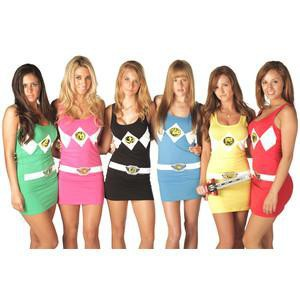 Costume power rangers sexy