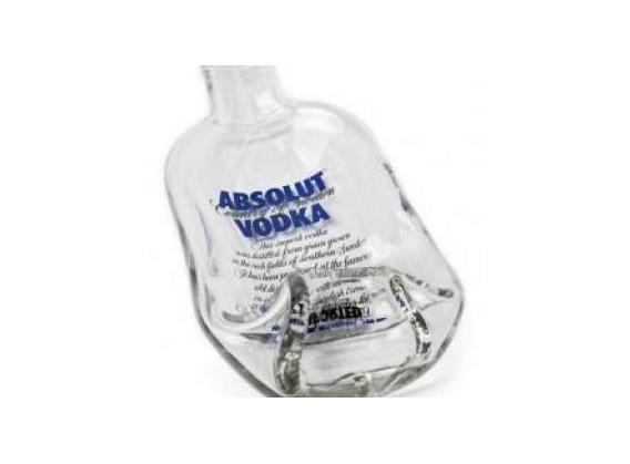 Le plat bouteille de vodka