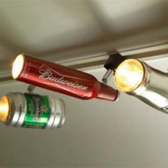 Lampe canette de bière