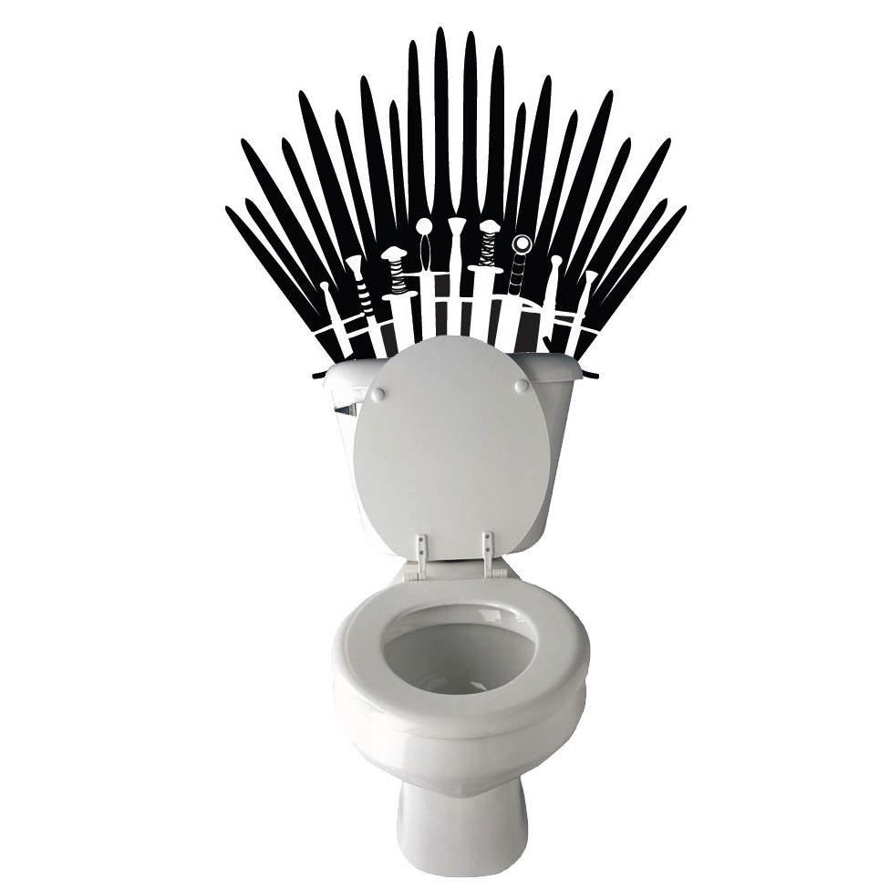 sticker game of thrones pour toilettes