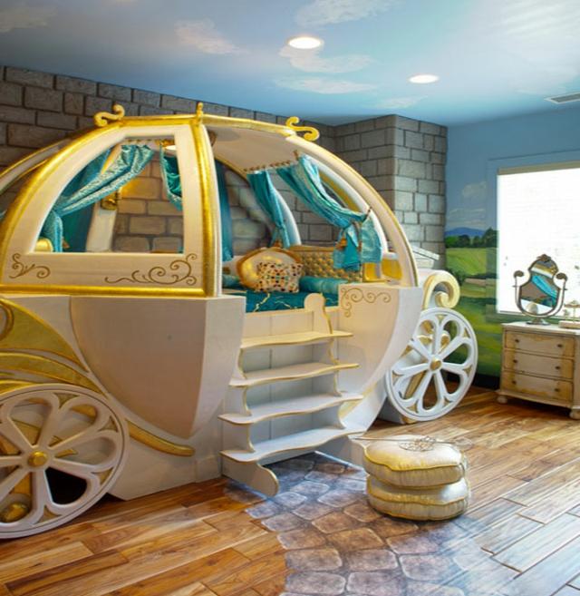 chambre enfant carrosse fille lit