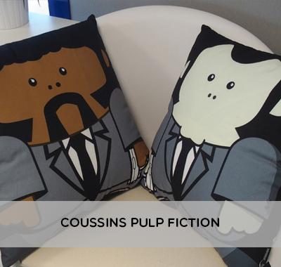 Coussins Pulp Fiction