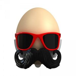 Coquetier moustache original