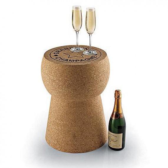 La table bouchon de champagne