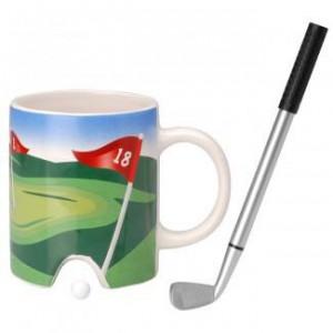 Mug golf et club stylo