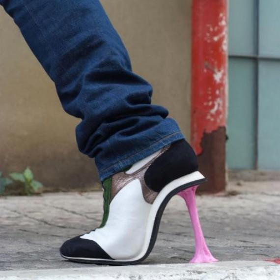 Chaussure à talon Chewing-gum