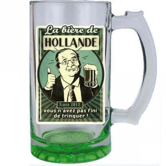 La chope de bière François Hollande