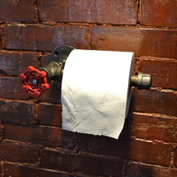 Porte-papier toilette en tuyau industriel