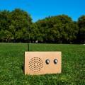 La radio en carton