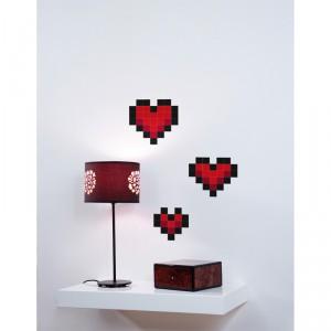 Stickers muraux coeur pixels love