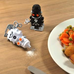 Salière et poivrière robots