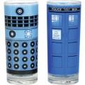Lot de 2 verres Docteur Who Tardis et Dalek