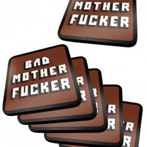 Pack de 6 Dessous de Verre Pulp Fiction Bad Motherfucker