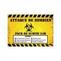 """Pack de survie 24h """"Attaque zombie"""""""