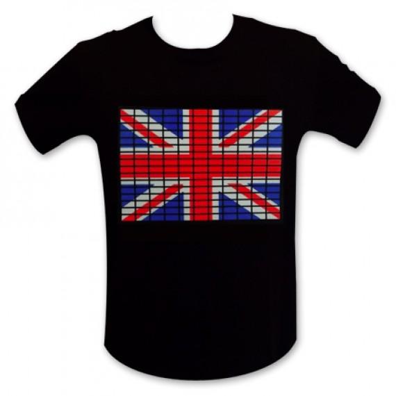 T-shirt drapeau anglais LED
