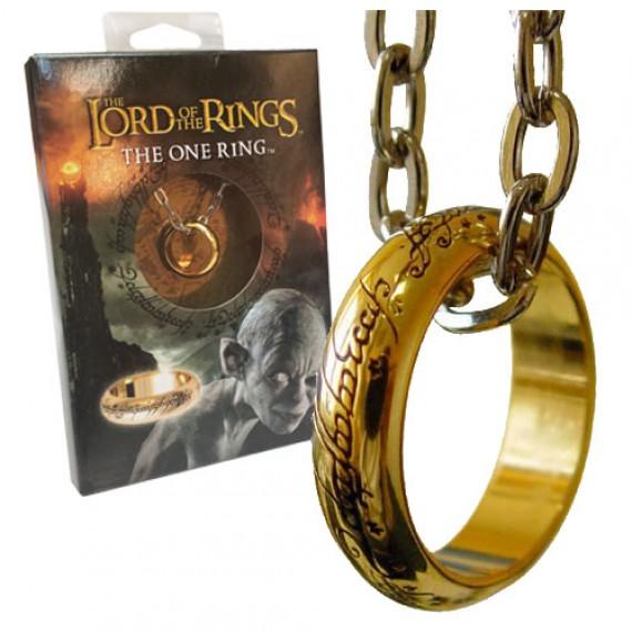 Réplique de l'anneau unique du Seigneur des Anneaux (plaqué or)