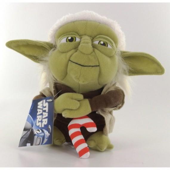 Peluche Star Wars Maître Yoda de Noël 17 cm