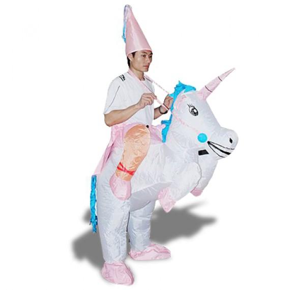 Costume de magicien à dos de licorne