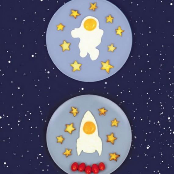 Moule à oeufs fusée/astronaute