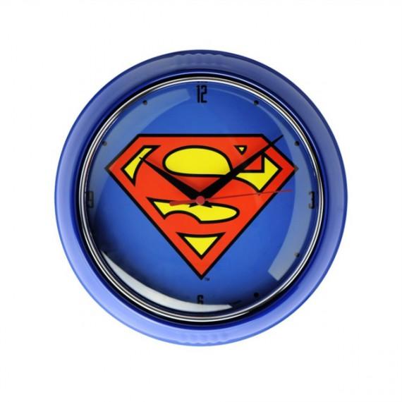 Horloge Superman Logo Bleu 25 cm