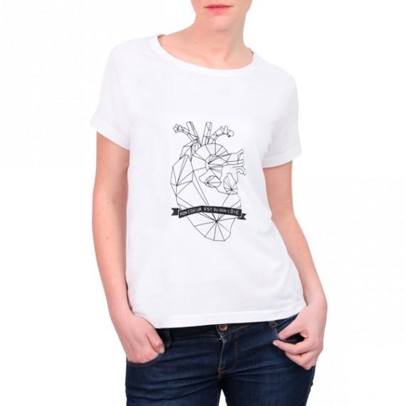 T-shirt femme gauchère