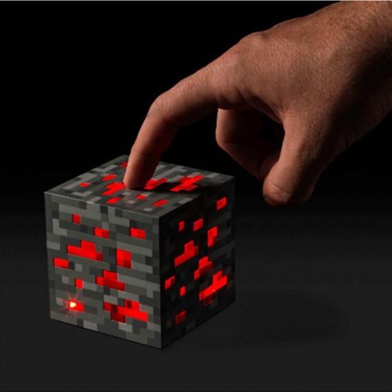 Veilleuse Minecraft bloc de pierre