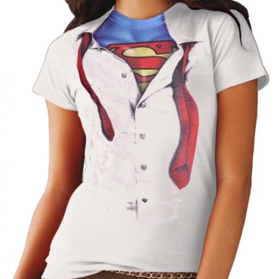 T-Shirt Superman Chemise Costume Femme