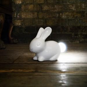 Lampe céramique lapin