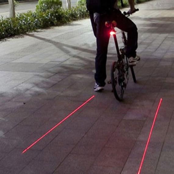 Lampe arrière de vélo projecteur laser de piste cyclable