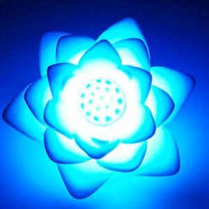 Lampe lotus arc-en-ciel