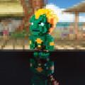 Figurine Blanka pixelisé de street fighter capcom