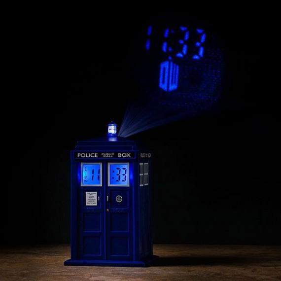 Réveil Doctor Who Réplique Tardis Projection