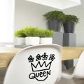 Sticker Queen décoration royale
