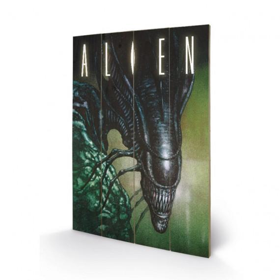 Panneau en bois Alien Creep