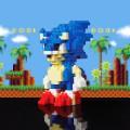 Sonic le hérisson à construire pixel bricks