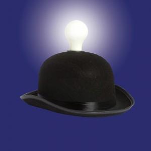 Lampe à idées chapeau de melon