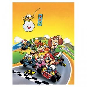 Toile Super Mario kart Nintendo Retro