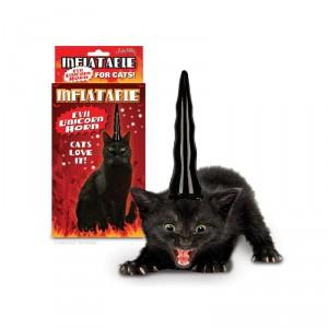 Corne de Licorne Gonflable noir pour Chats