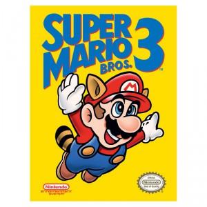 Toile Nintendo Cartouche Super Mario Bros 3