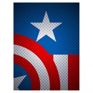 Toile captain America Marvel Comics