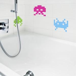 Stickers Mini Space Invaders en couleur
