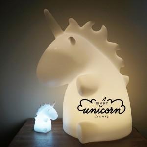 Lampe veilleuse licorne géante multicolore