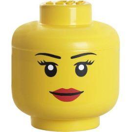 Boîte de Rangement Petite Tête Fille LEGO