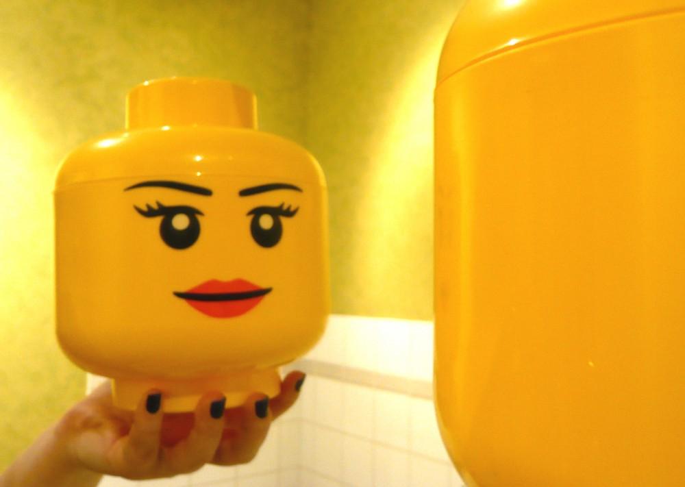 Boite De Rangement Petite Tete Fille Lego